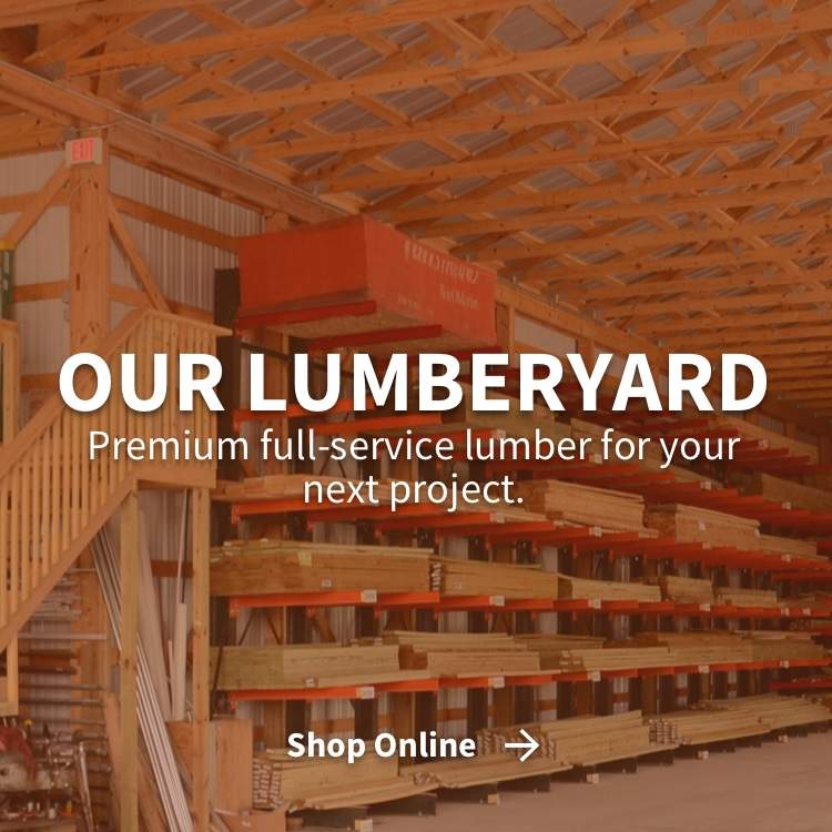 Our Lumberyard - Premium full-service lumber for your next project with Shop Online link
