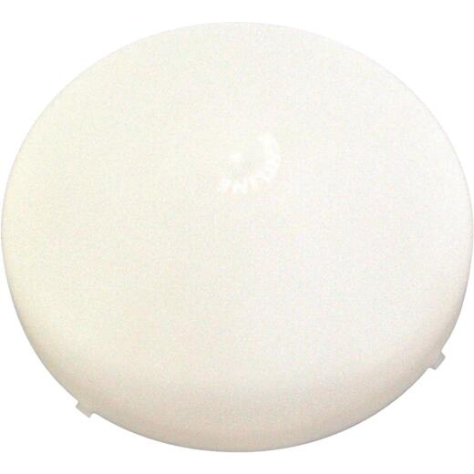 United States Hardware 8-1/4 In. White Mobile Home Exhaust Fan Cover