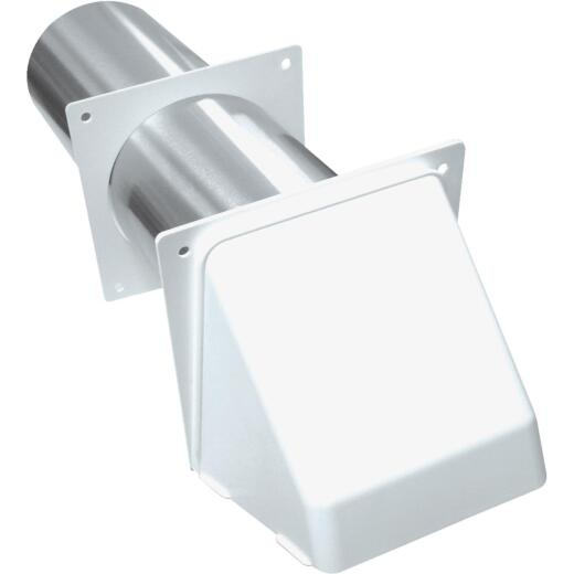 Lambro 4 In. White Plastic Preferred Dryer Vent Hood