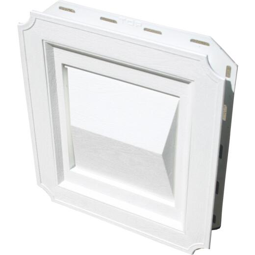 Builder's Best 4 In. White Plastic J-Block Dryer Vent Hood