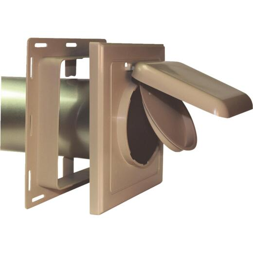 No-Pest 4 In. Tan Plastic J-Block Dryer Vent Hood