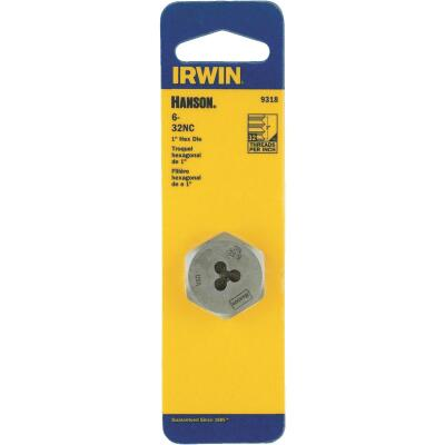 Irwin Hanson 6 In. - 32 NC Machine Screw Hex Die