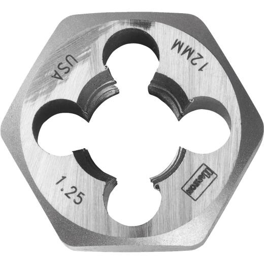 Irwin Hanson 12 mm - 1.25 Metric Hex Die