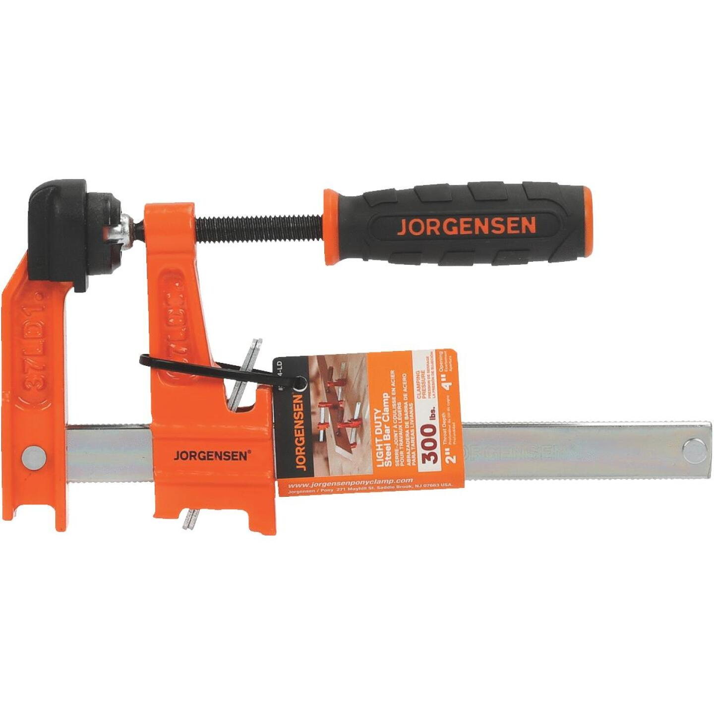 Jorgensen 4 In. Light-Duty Steel Bar Clamp Image 1