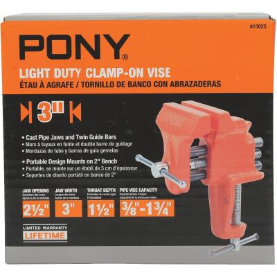 Pony 3 In. Light-Duty Clamp-On Vise