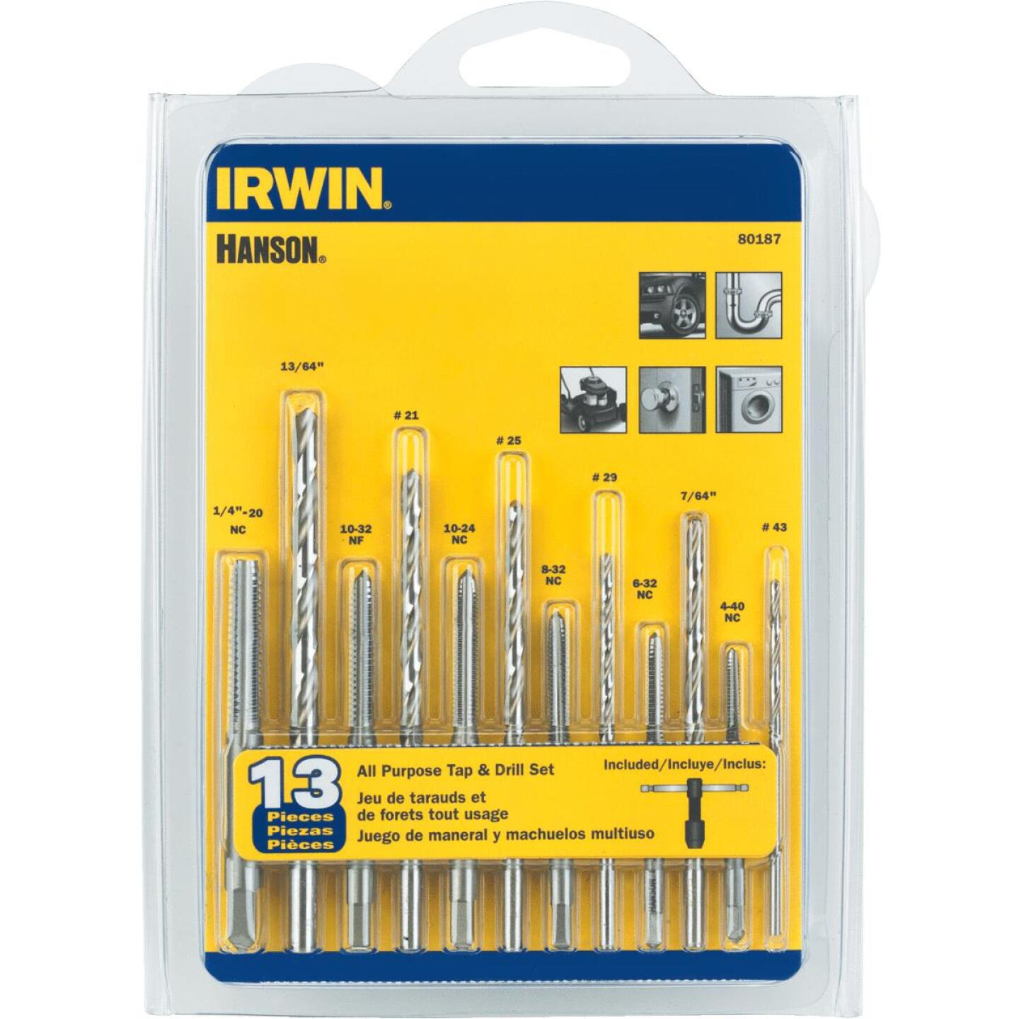 Irwin Hanson 13-Piece All-Purpose Tap & Drill Bit Set Image 1