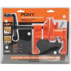 Pony Professional 3/4 In. Pipe Clamp Fixture with Crank Handle Image 1