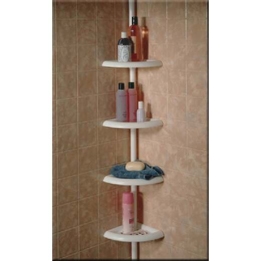 Zenith Plastic 12 In. x 97 In. Shower Caddy