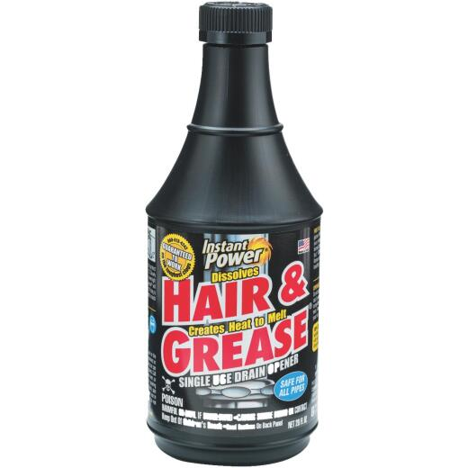 Instant Power Hair & Grease 20 Oz. Liquid Single Use Drain Opener
