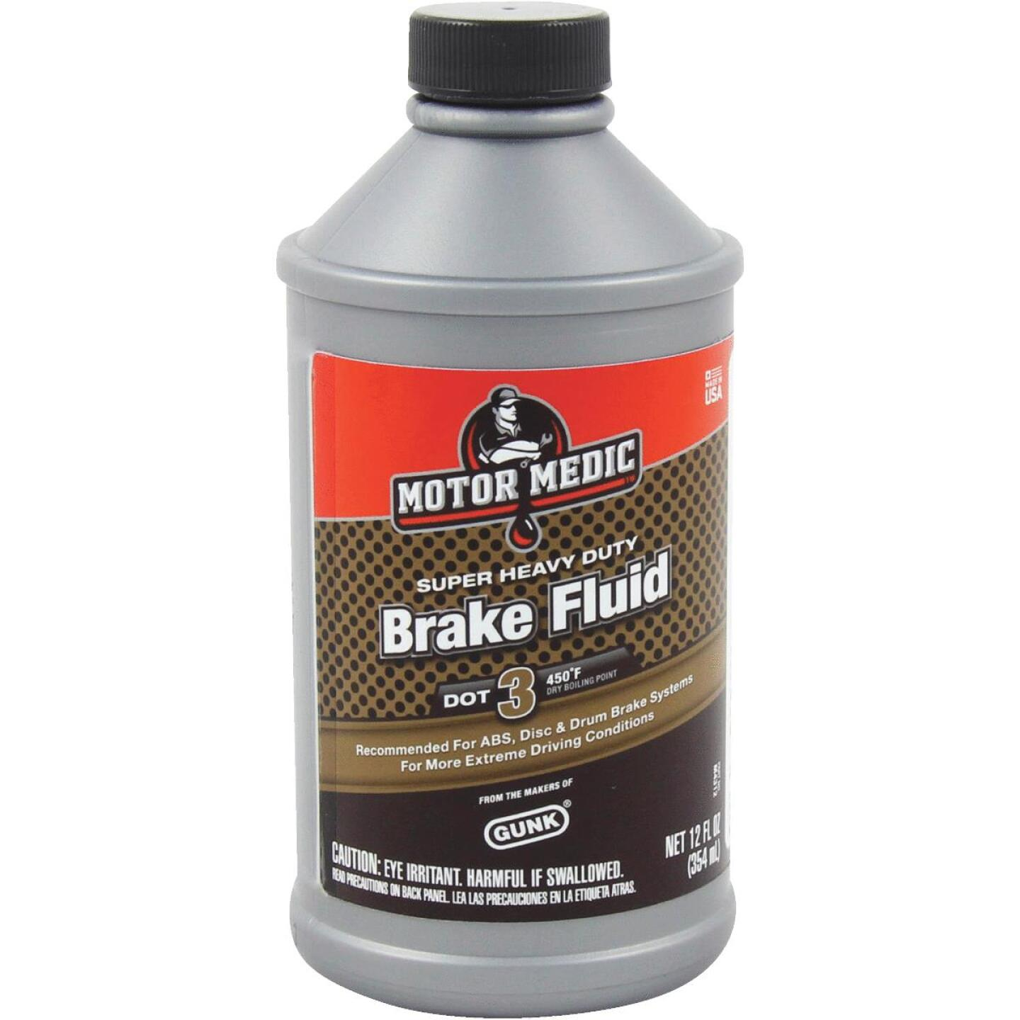 MotorMedic 12 Oz. Super Heavy-Duty DOT 3 Brake Fluid Image 1