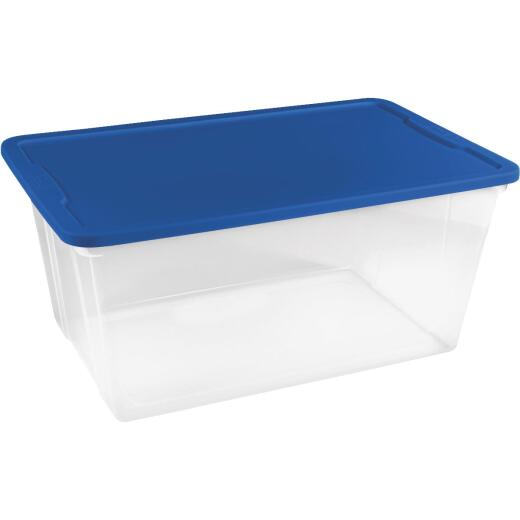 Homz 90 Qt. Clear Storage Tote