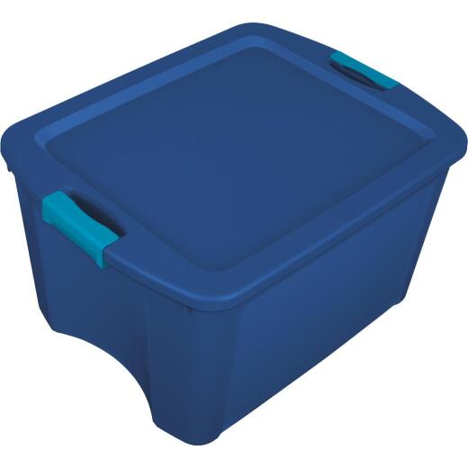 Sterilite 18 Gal. Blue Latch & Carry Storage Tote