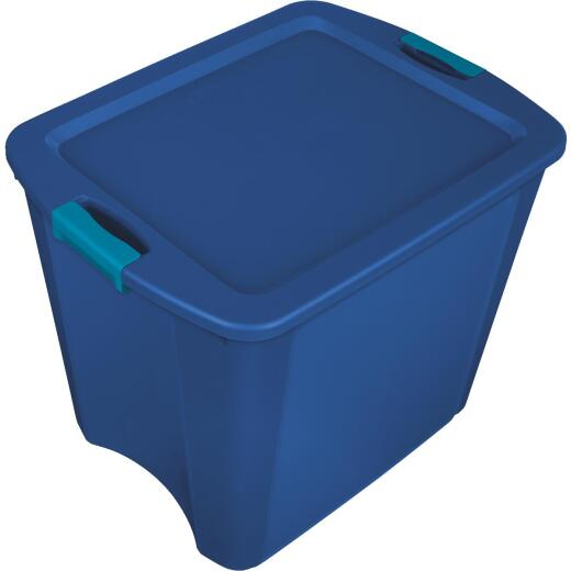 Sterilite 26 Gal. Blue Latch & Carry Storage Tote