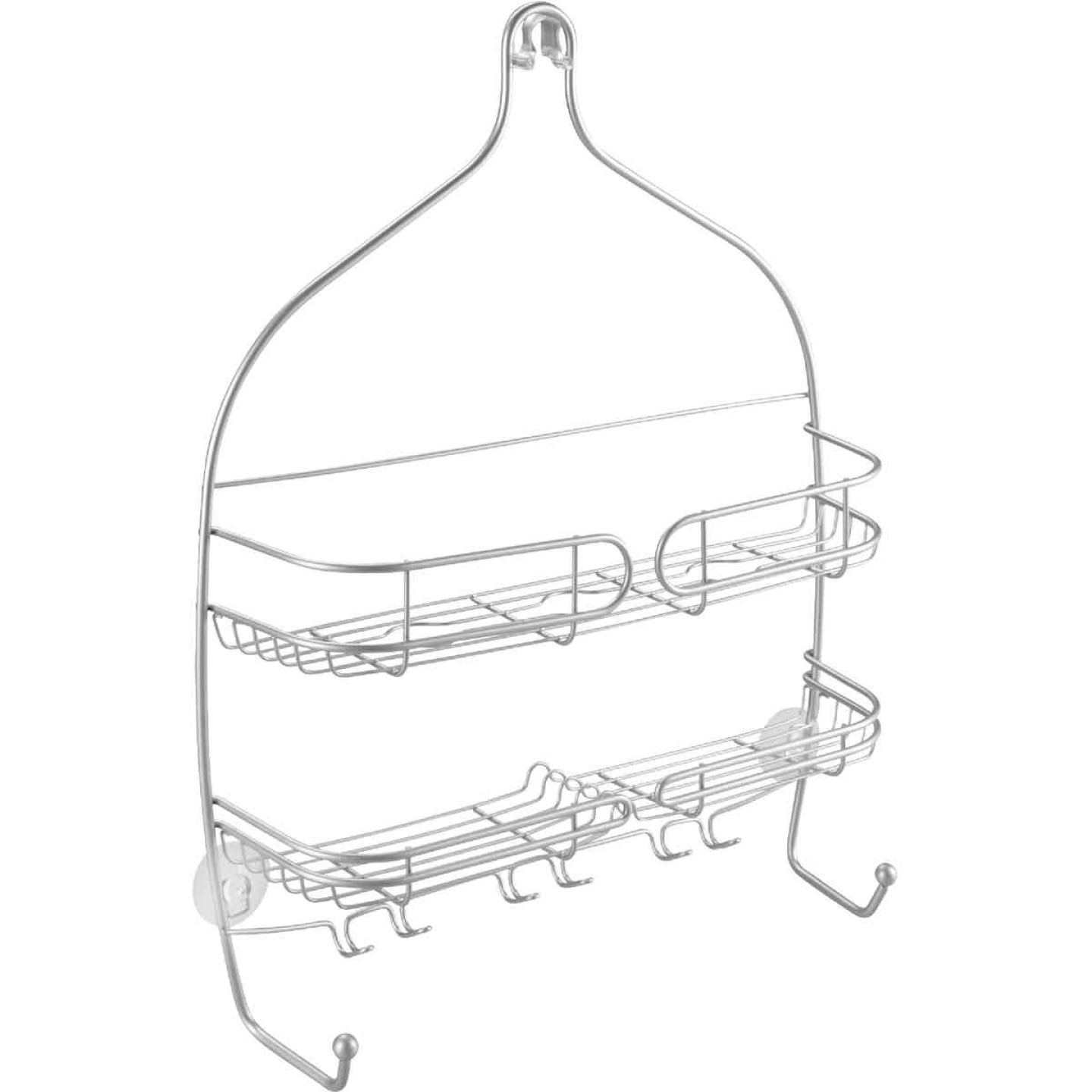 iDesign Neo Wide Silver Shower Caddy Image 1