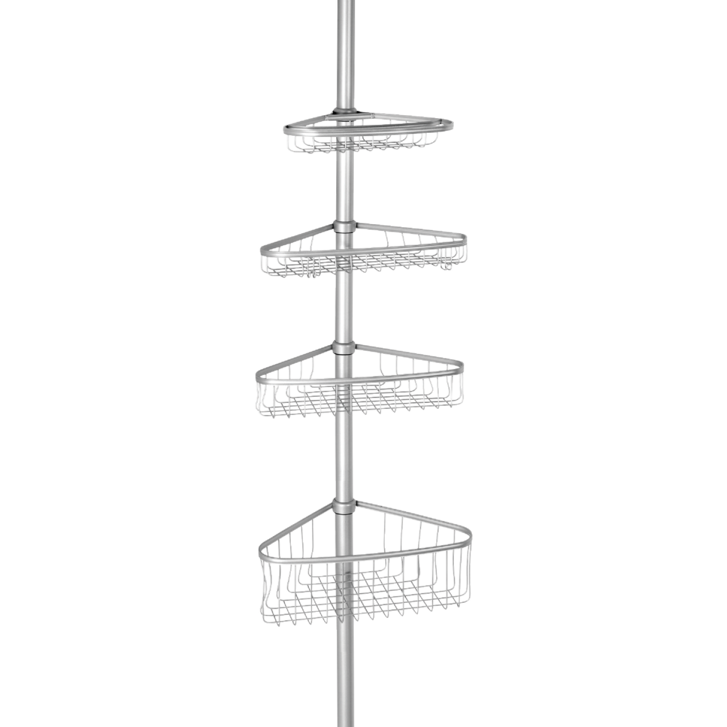 iDesign York Tension 4-Shelf Silver Shower Caddy Image 1