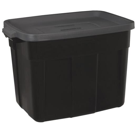 Rubbermaid Roughneck 18 Gal. Black Storage Tote