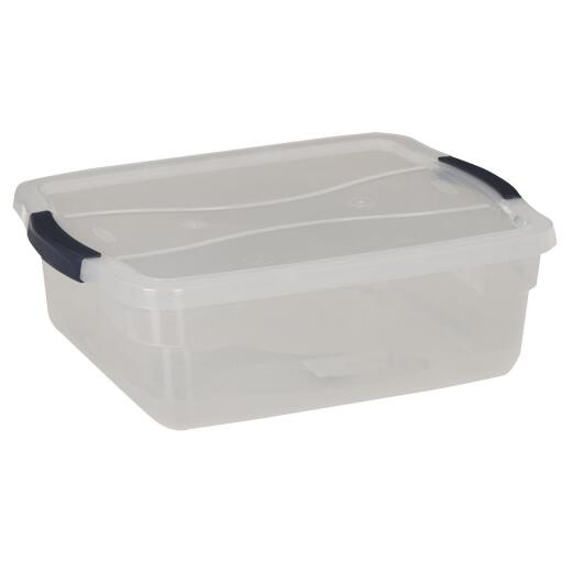 Rubbermaid 16 Qt. Clear Clever Store Latching Lid Storage Tote