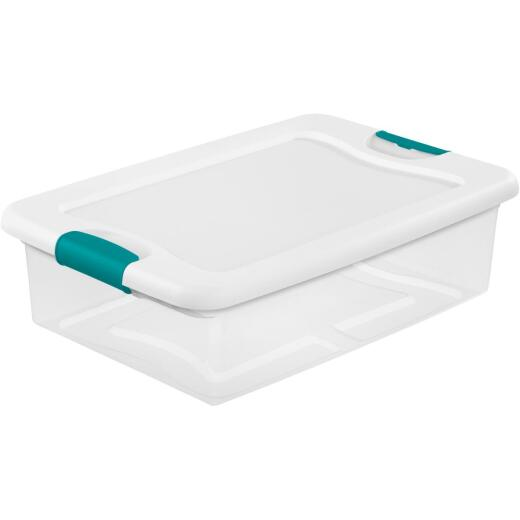Sterilite 32 Qt. White Latching Storage Tote