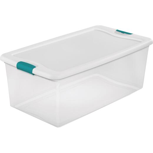 Sterilite 106 Qt. White Latching Storage Tote