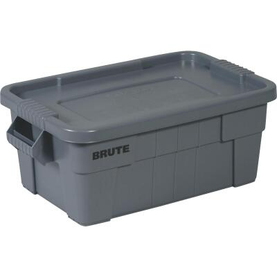 Rubbermaid 14 Gal. Gray Commercial Brute Storage Tote with Lid