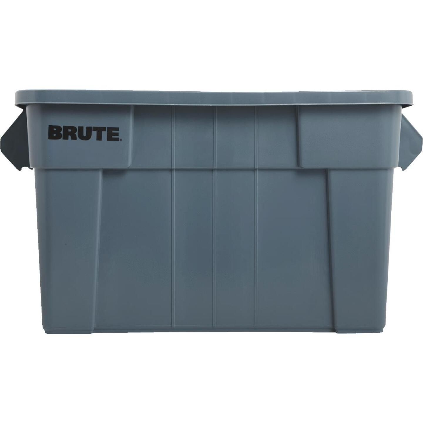 Rubbermaid 20 Gal. Gray Commercial Brute Storage Tote with Lid Image 2