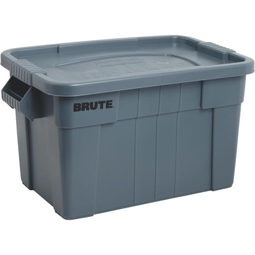 Rubbermaid 20 Gal. Gray Commercial Brute Storage Tote with Lid