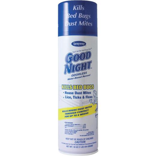 Sprayway Good Night 16 Oz. Aerosol Spray Bedbug Killer