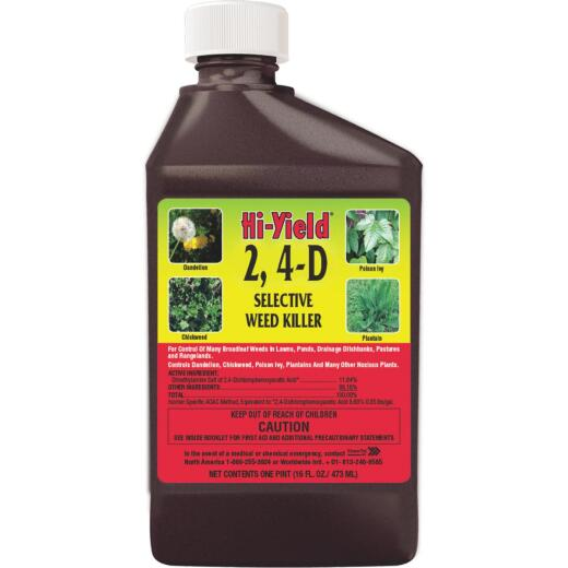 Hi-Yield 2, 4-D 16 Oz. Concentrate Selective Weed Killer
