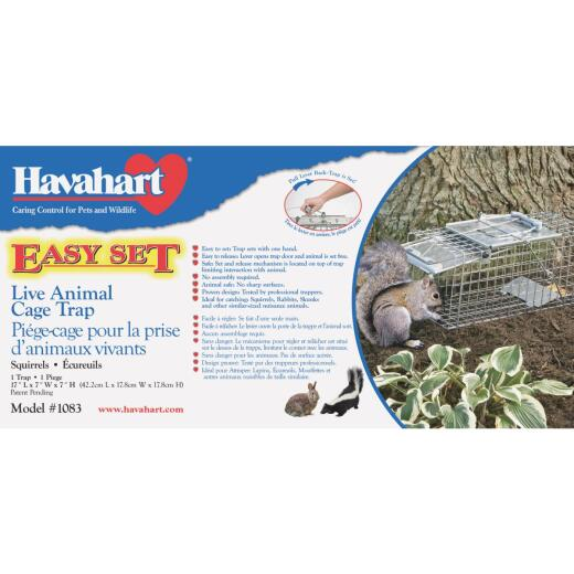 Havahart Easy Set Galvanized Steel 17 In. Live Squirrel Trap