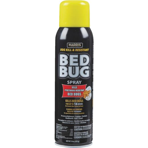 Harris 16 Oz. Aerosol Spray Egg Kill & Pyrethroid Resistant Bedbug Killer