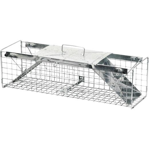Havahart Galvanized Steel 24 In. 2-Door Medium Animal Trap