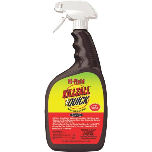 Hi-Yield Killzall Quick 32 Oz. Ready To Use Trigger Spray Weed & Grass Killer
