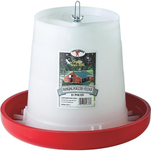 Little Giant 11 Lb. Capacity Hanging Plastic Poultry Feeder