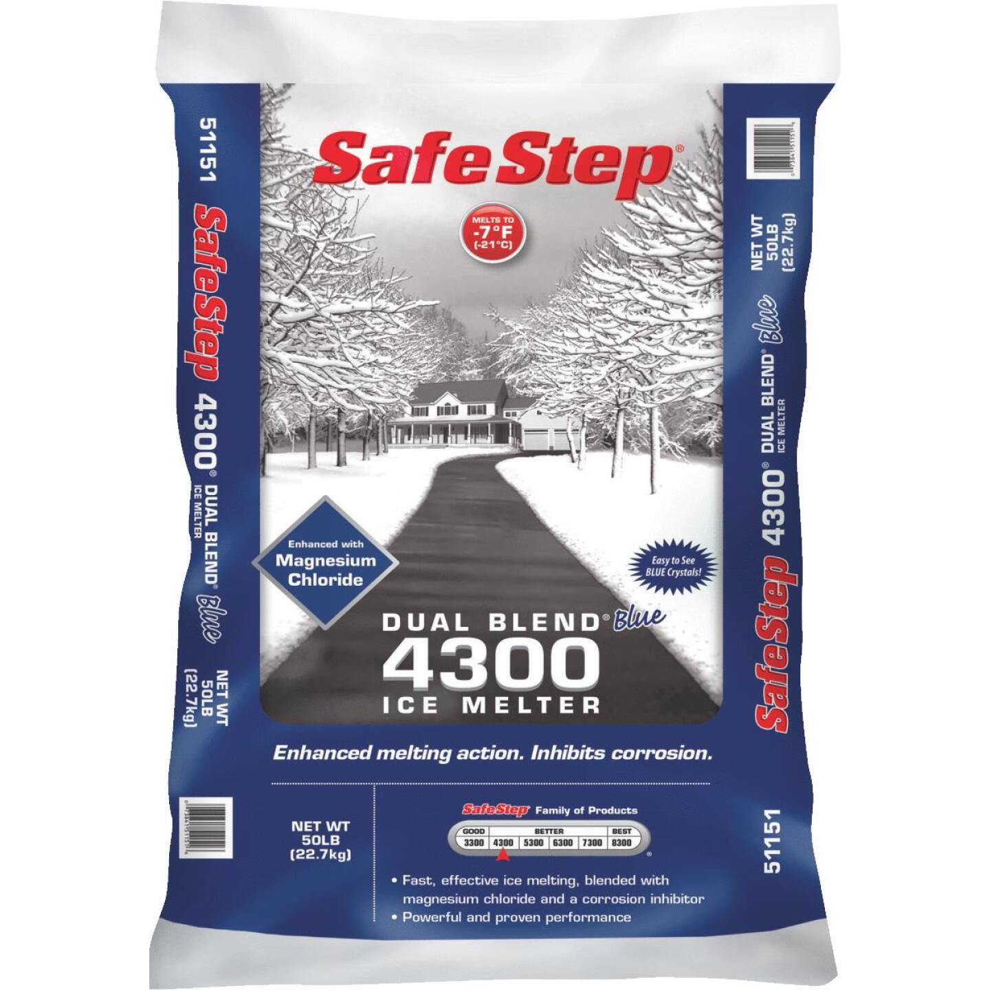 Safe Step Dual Blend Blue 4300 50 Lb. Ice Melt Pellets Image 1