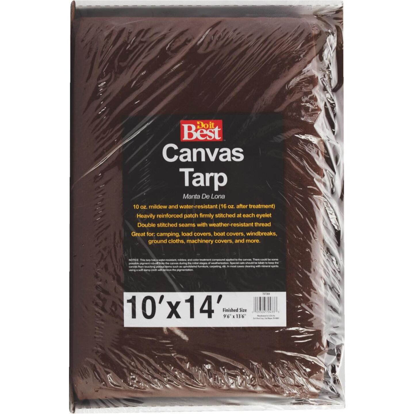 Do it Best 10 Oz. 10 Ft. x 14 Ft. Canvas Tarp Image 2