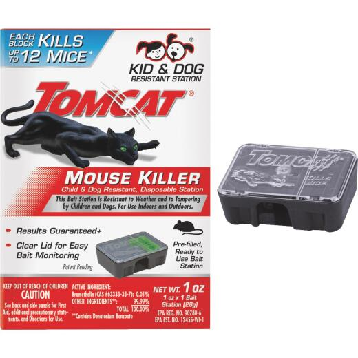 Tomcat Mouse Killer Disposable Mouse Bait Station (1-Pack)