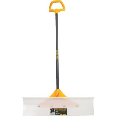 True Temper 30 In. Nylon Snow Pusher with 42 In. Steel Handle