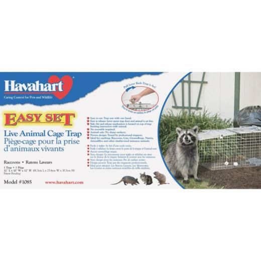 Havahart Easy Set Galvanized Steel 32 In. Live Raccoon Trap