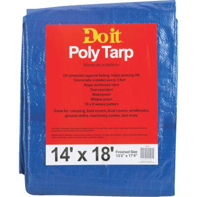 Do it Blue Woven 14 Ft. x 18 Ft. Medium Duty Poly Tarp