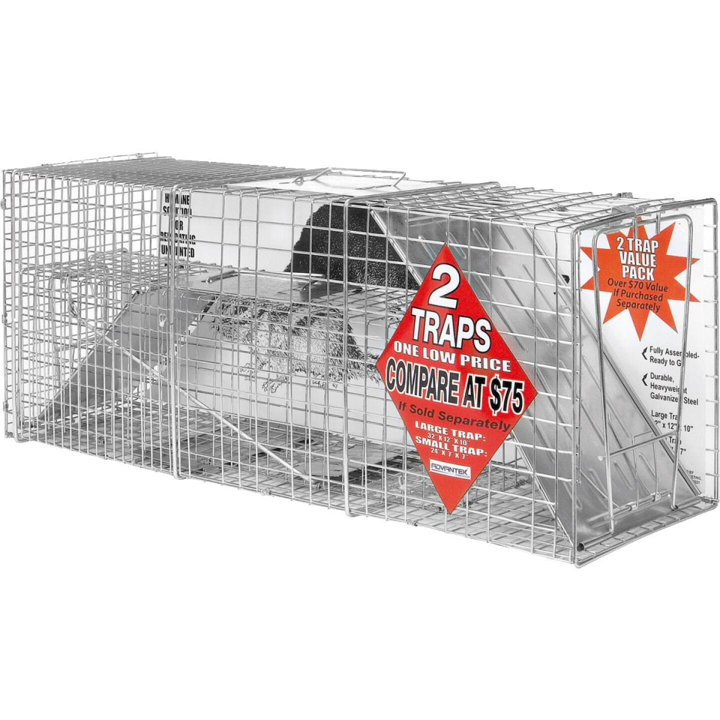 Advantek Galvanized 32 In. Catch & Release Animal Trap (2-Pack) Image 1