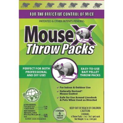 MouseX Pellet Throw Pack Mouse Killer (6-Pack)