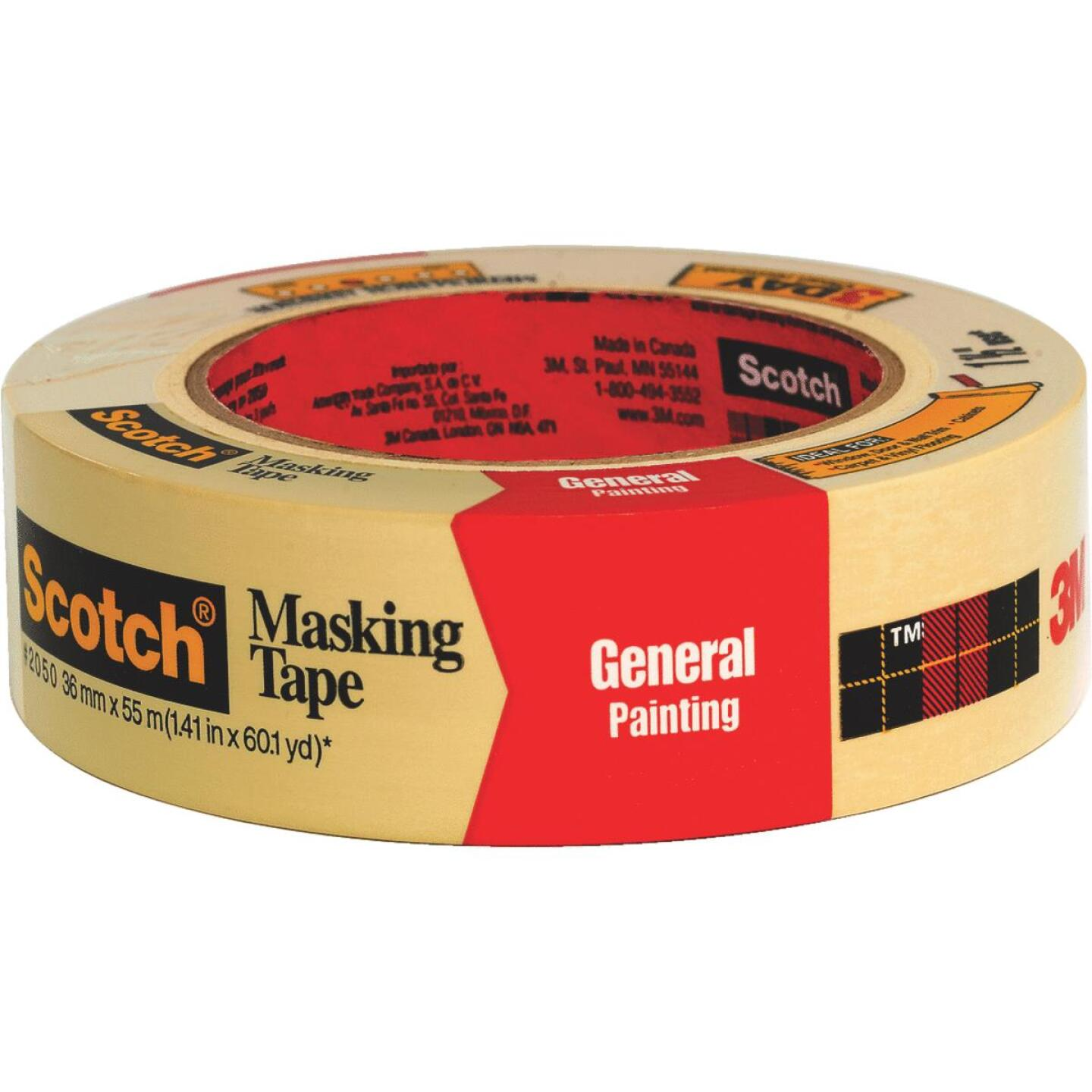 3M Scotch 1.41 x 60.1 Yd. General Painting Masking Tape Image 1