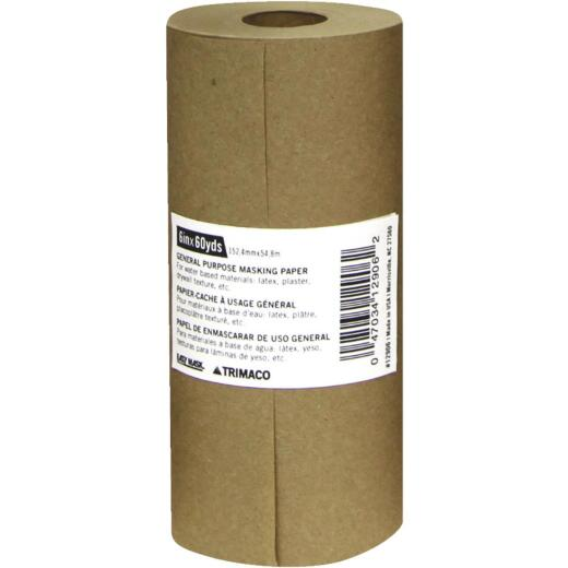 Trimaco 6 In. x 180 Ft. Brown Masking Paper