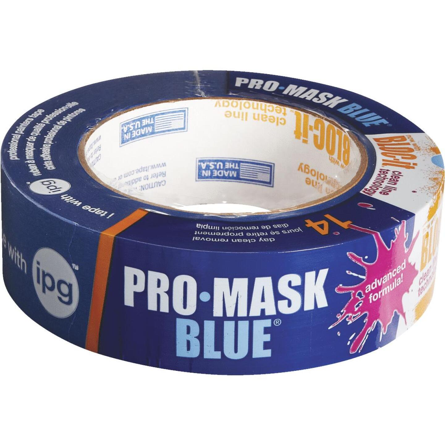 IPG ProMask Blue 1.41 In. x 60 Yd. Bloc-It Masking Tape Image 1