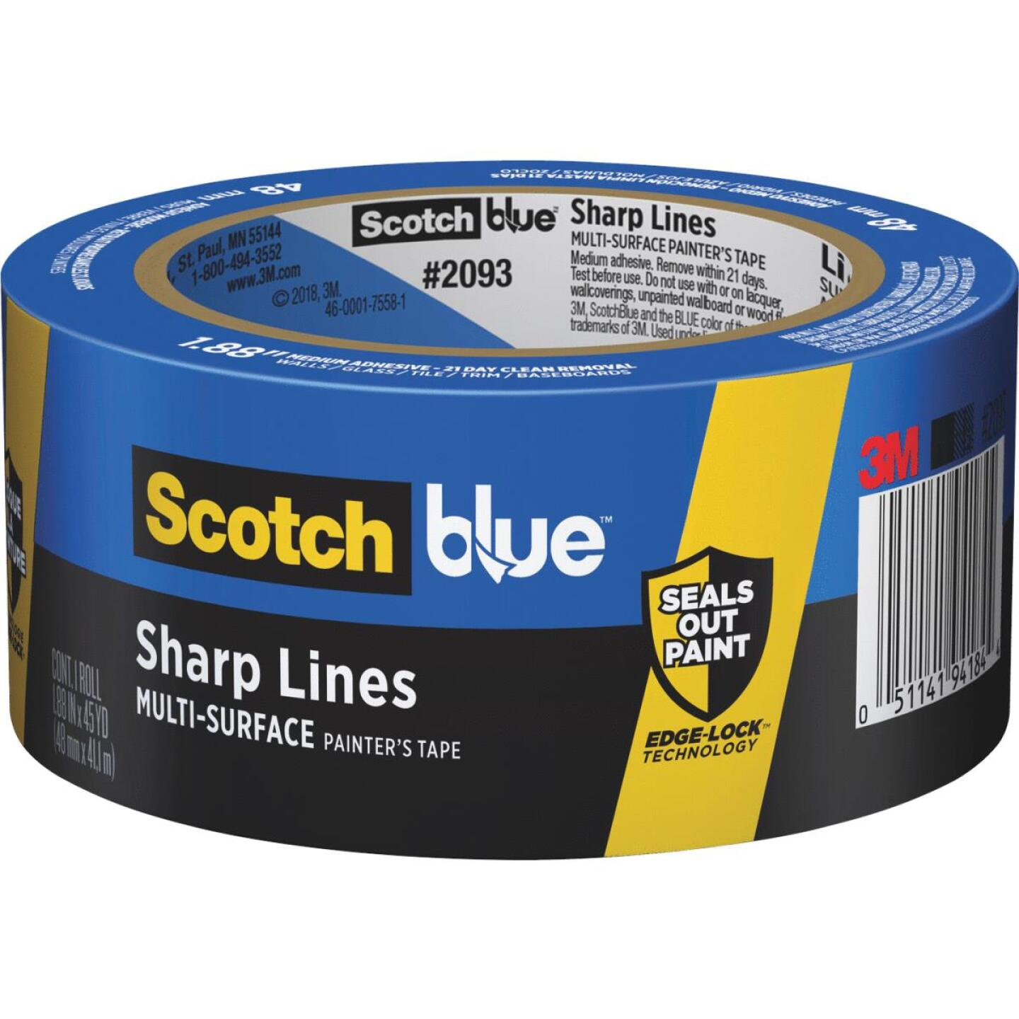 3M Scotch Blue 1.88 In. x 45 Yd. Sharp Lines Painter's Tape Image 1